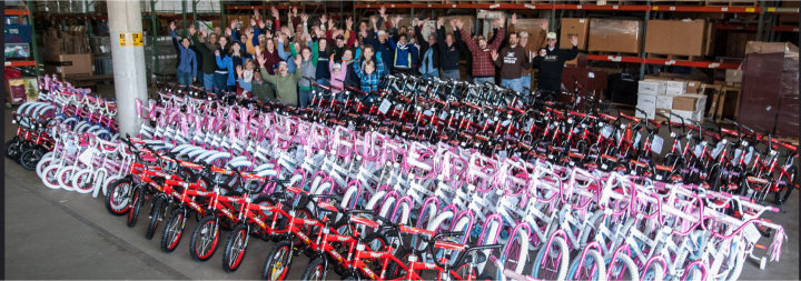 Bikes For Kids Foundation money to purchase bicycles