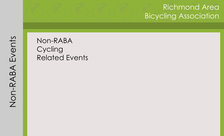 Richmond Area Bicycling Association Non-RABA Events Non-RABA Cycling Related Events