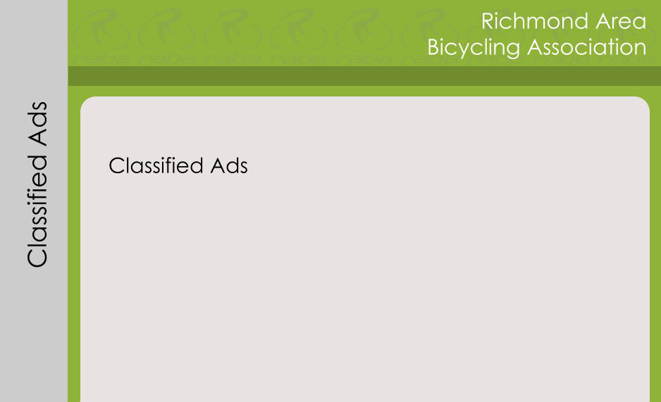 Richmond Area Bicycling Association Classified Ads Classified Ads