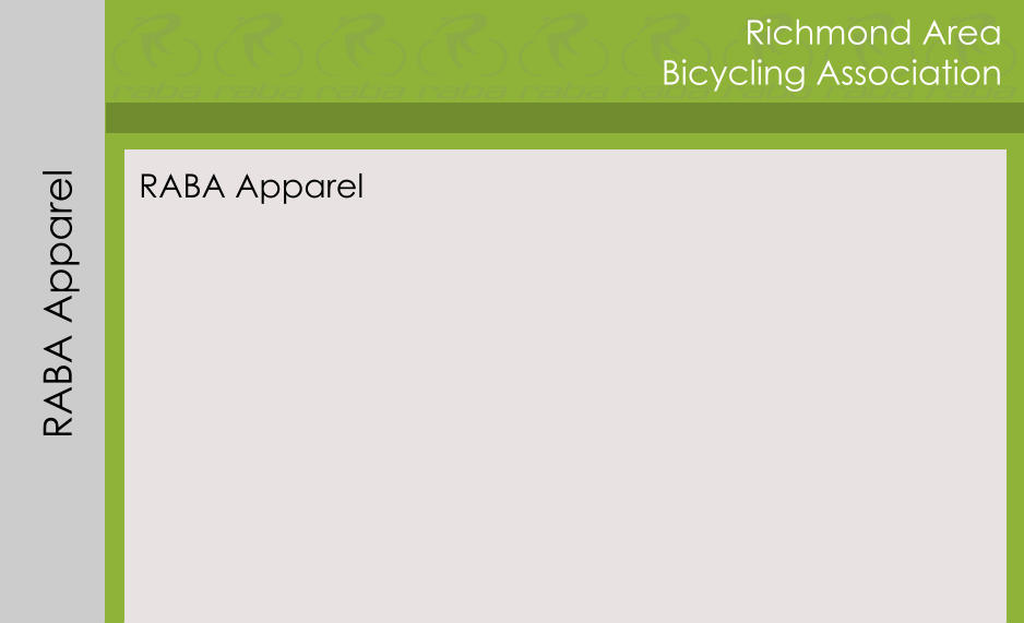 Richmond Area Bicycling Association RABA Apparel RABA Apparel
