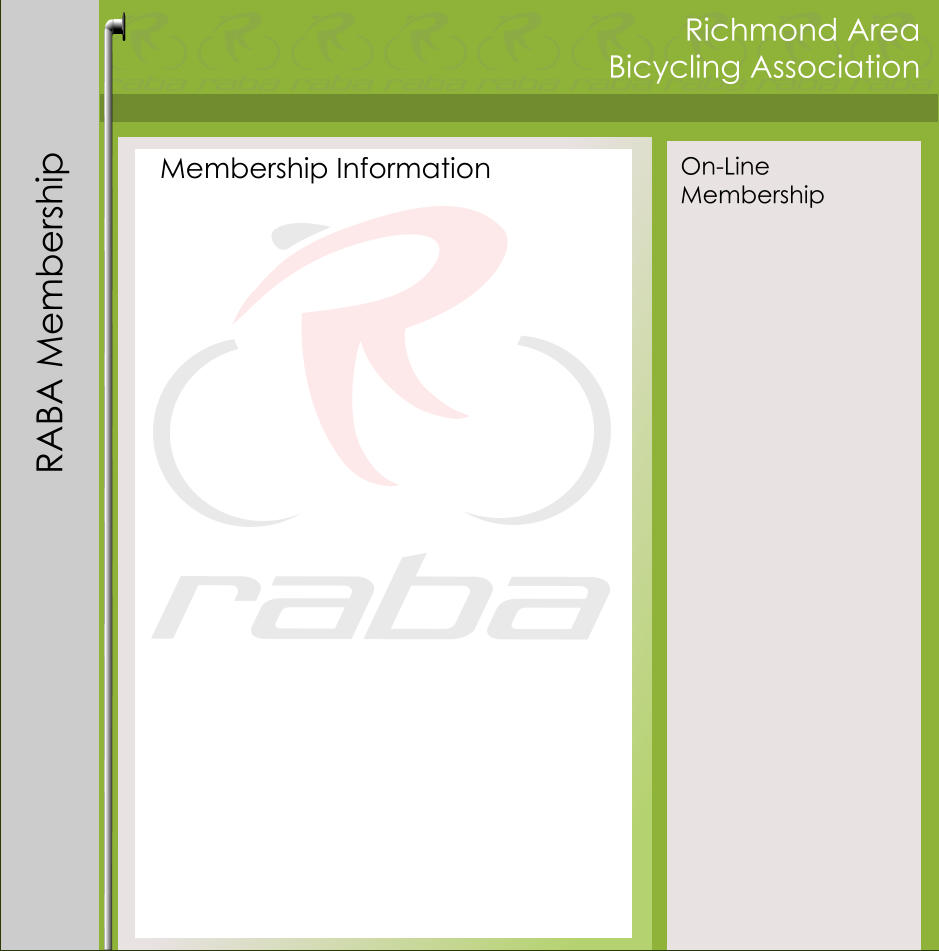 Richmond Area Bicycling Association Membership Information RABA Membership On-Line Membership